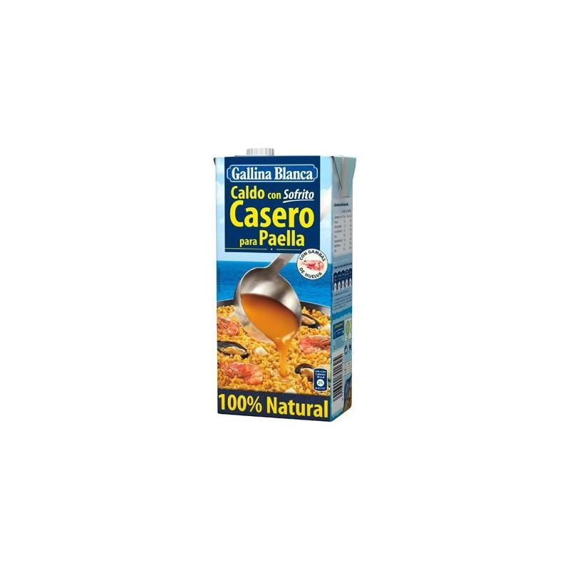 Caldo con sofrito Casero para Paella