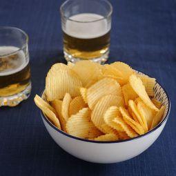 patatas fritas jamón