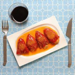 Pimientos de piquillo rellenos de Carne