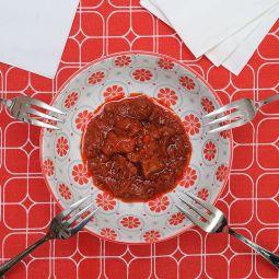 Tintenfisch in meeresfruchte sauce