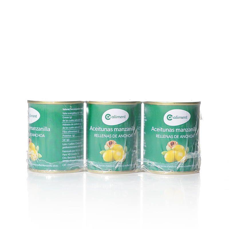 Aceitunas Rellenas de Anchoa Pack 3