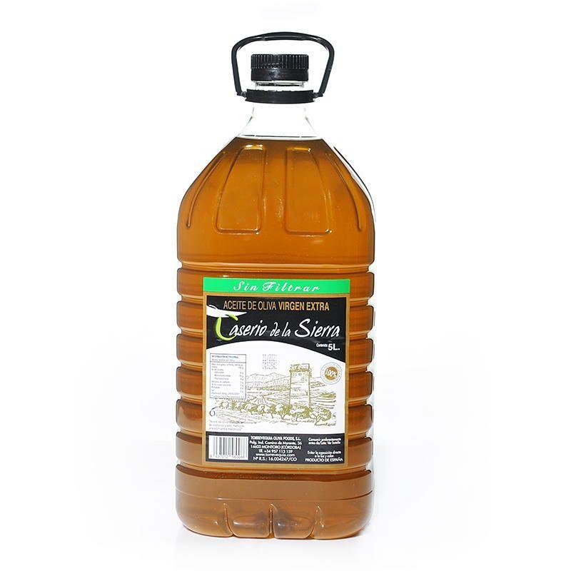 Aceite de Oliva Virgen Extra 5 litros Caserio de la Sierra Sin Filtrar