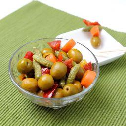 Grüne Gazpacha Oliven