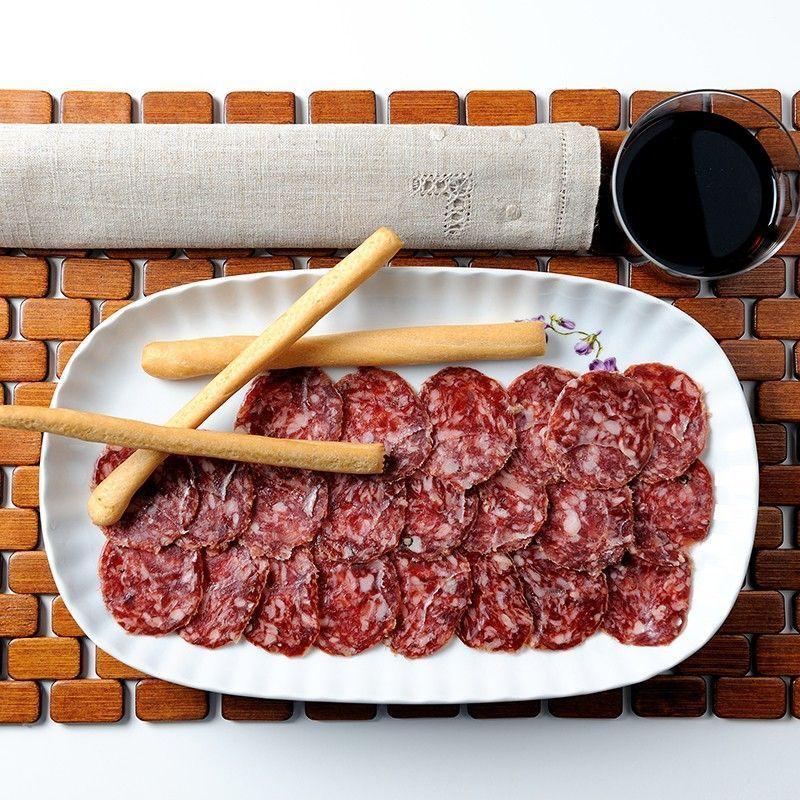 Iberische Salami Aufgeschnitten