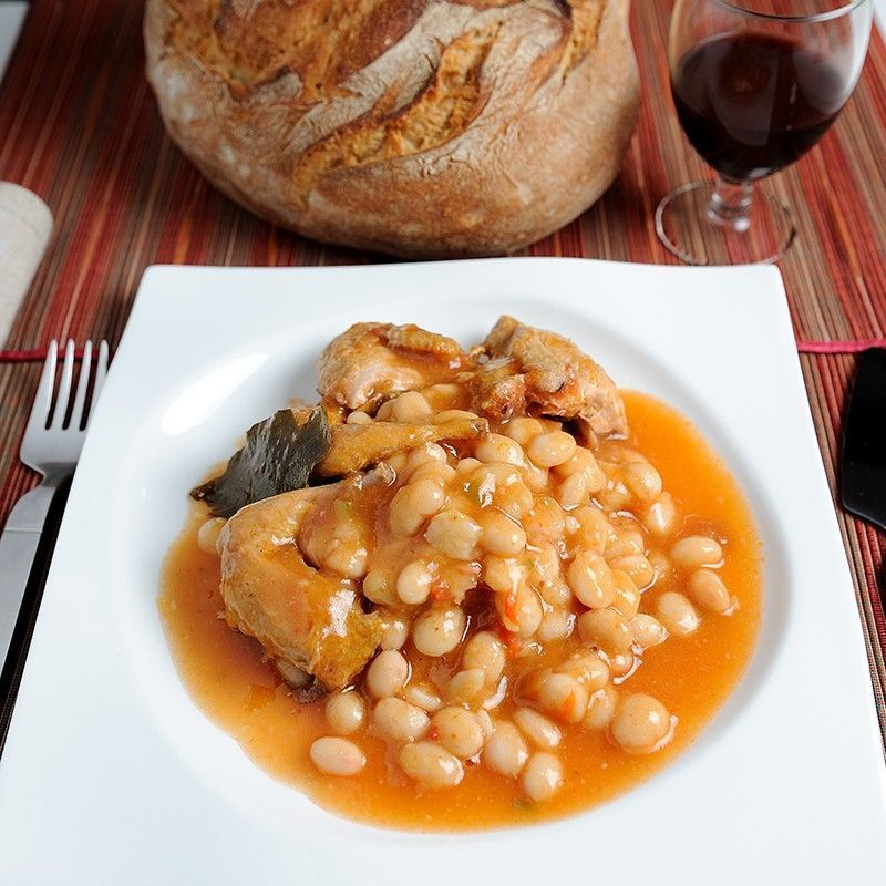 White Beans with Quail