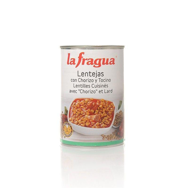 Lentejas con Chorizo y Tocino