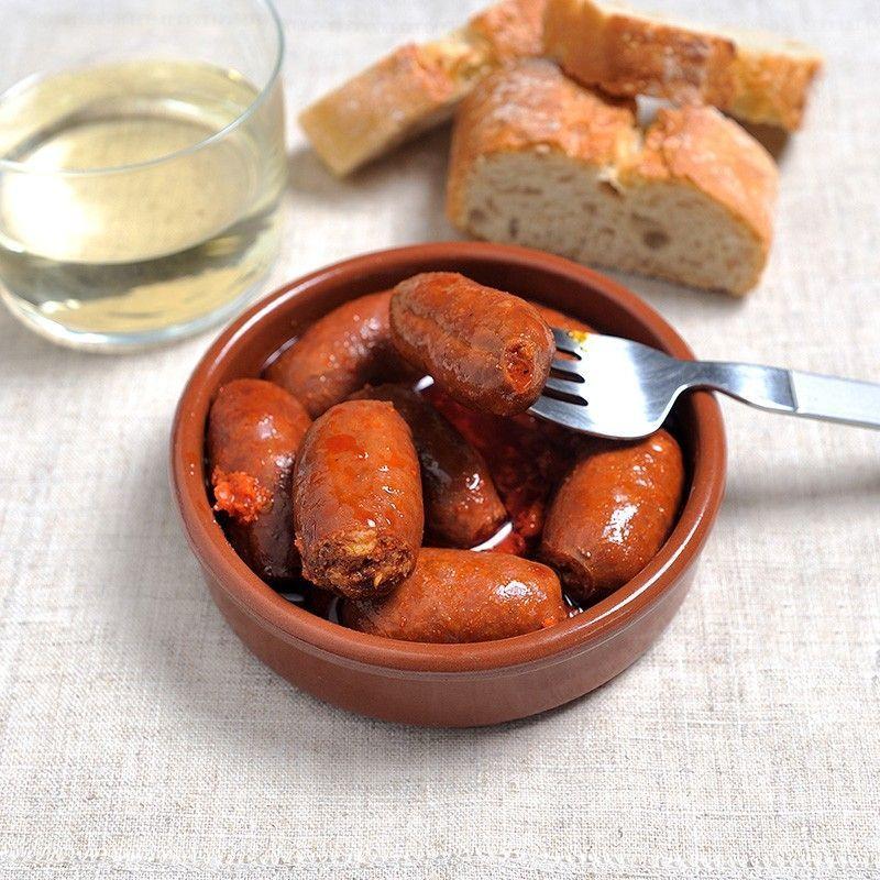 Mini Chorizos mit Apfelwein