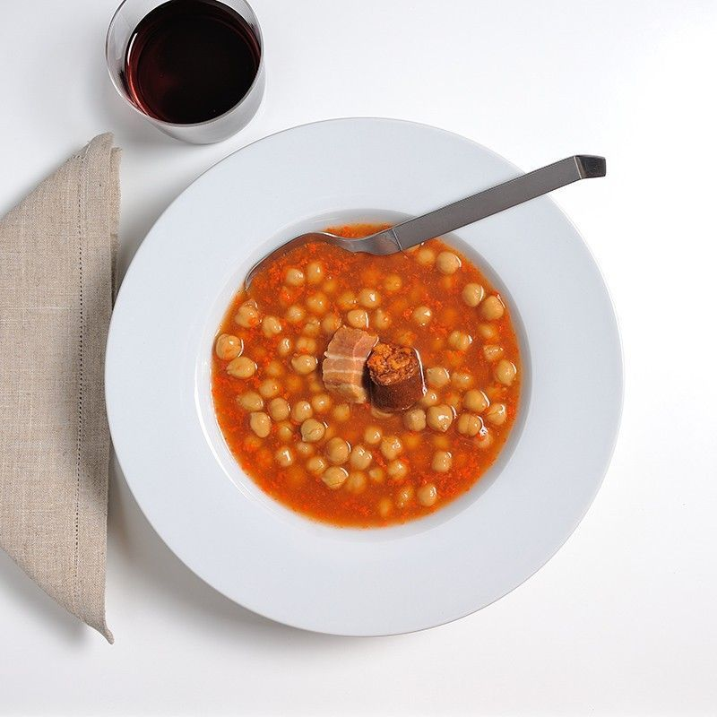 Garbanzos con Chorizo y Tocino