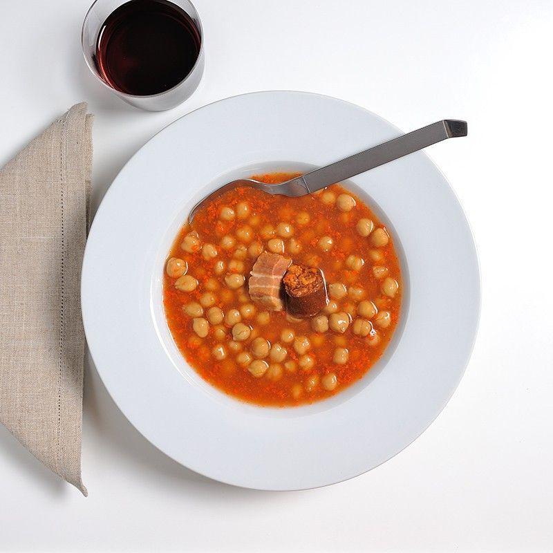 Kichererbsen mit Chorizo und Speck