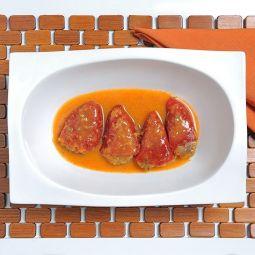 Piquillo Paprika mit Blutwurst aus Burgos gefüllt