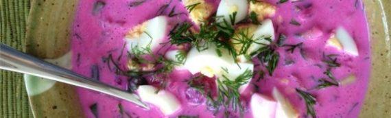 Lithuanian Saltibarsciai Cold Beet Soup Recipe (Beet Salmorejo)
