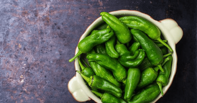 Padrón peppers, one of the best Spanish tapas